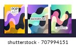 artistic funky design for print ... | Shutterstock .eps vector #707994151