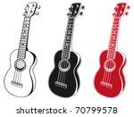 soprano ukulele set | Shutterstock .eps vector #70799578