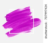 logo brush painted textured... | Shutterstock .eps vector #707997424