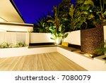 a modern  designer house   with ... | Shutterstock . vector #7080079