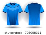 soccer jersey template. mock up ... | Shutterstock .eps vector #708008311