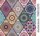 seamless pattern. vintage... | Shutterstock .eps vector #708012295