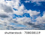 Small photo of Landscape blue sky and big clouds. Background of the firmament. Weather scene day.