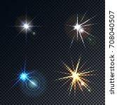 a set of four highlights  stars ... | Shutterstock . vector #708040507
