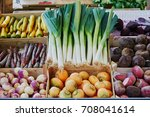 variety of fresh organic... | Shutterstock . vector #708041614