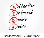 aida   attention interest... | Shutterstock .eps vector #708047029