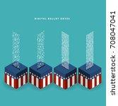 vector illustration of ballot... | Shutterstock .eps vector #708047041