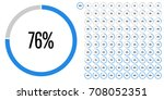 set of circle percentage... | Shutterstock .eps vector #708052351