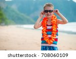 7 year old boy in traditional... | Shutterstock . vector #708060109