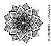 mandalas for coloring book....   Shutterstock .eps vector #708063235