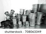 stainless steel cookware  ... | Shutterstock . vector #708063349