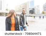 black couple having fun in... | Shutterstock . vector #708064471