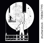 people clean universe  workers... | Shutterstock .eps vector #708067795