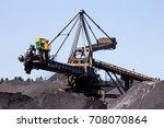 stacker reclaimer in a coal... | Shutterstock . vector #708070864