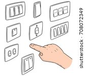 vector set of electric switch | Shutterstock .eps vector #708072349