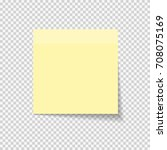 sticky paper note on... | Shutterstock . vector #708075169