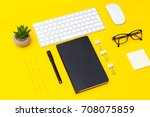 stationery are located at an... | Shutterstock . vector #708075859
