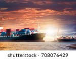logistics import export... | Shutterstock . vector #708076429