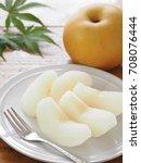 japanese pear   Shutterstock . vector #708076444