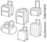 vector set of suitcase | Shutterstock .eps vector #708076855