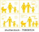 family icons   vector... | Shutterstock .eps vector #70808524