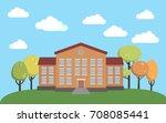 welcome back to school.... | Shutterstock .eps vector #708085441