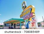 tucumcari  new mexico   july 21 ... | Shutterstock . vector #708085489