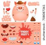 creation kit of cartoon... | Shutterstock .eps vector #708087361