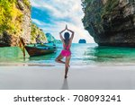 nature for life  healthy woman... | Shutterstock . vector #708093241