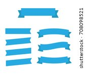 flat vector ribbons banners...   Shutterstock .eps vector #708098521