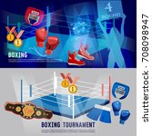 boxing banner  professional box ... | Shutterstock .eps vector #708098947