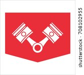 pistons and rods icon. conrods... | Shutterstock .eps vector #708102955