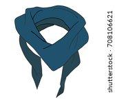 men's neck scarf blue isolated... | Shutterstock .eps vector #708106621