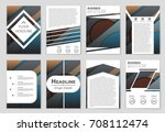 abstract vector layout... | Shutterstock .eps vector #708112474