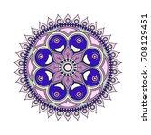 flower mandalas. vintage...   Shutterstock .eps vector #708129451