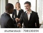 african american businessman...   Shutterstock . vector #708130354