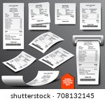 cash register sale receipt... | Shutterstock .eps vector #708132145