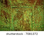 old rusty copper background... | Shutterstock . vector #7081372