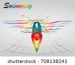 visual drawing of beautiful... | Shutterstock .eps vector #708138241
