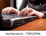 businesswoman working with her ... | Shutterstock . vector #70813906