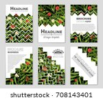 abstract vector layout... | Shutterstock .eps vector #708143401