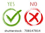 yes and no acceptance and... | Shutterstock .eps vector #708147814
