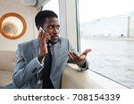 confident banker or rich man... | Shutterstock . vector #708154339