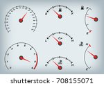 speedometer for car . fuel... | Shutterstock .eps vector #708155071