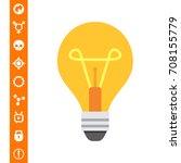 lightbulb icon | Shutterstock .eps vector #708155779