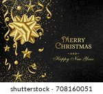 christmas luxury black... | Shutterstock .eps vector #708160051