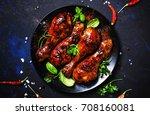 Baked Chicken Legs In Spicy...
