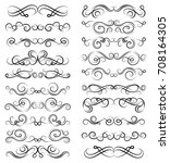calligraphic black and elegant... | Shutterstock .eps vector #708164305