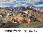 colorful mountains on... | Shutterstock . vector #708169561