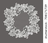 lace flowers decoration element   Shutterstock .eps vector #708171739